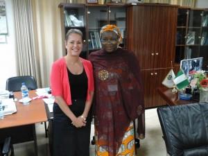 FB & Amina Zakari, Acting chair INEC August 2015 (1)